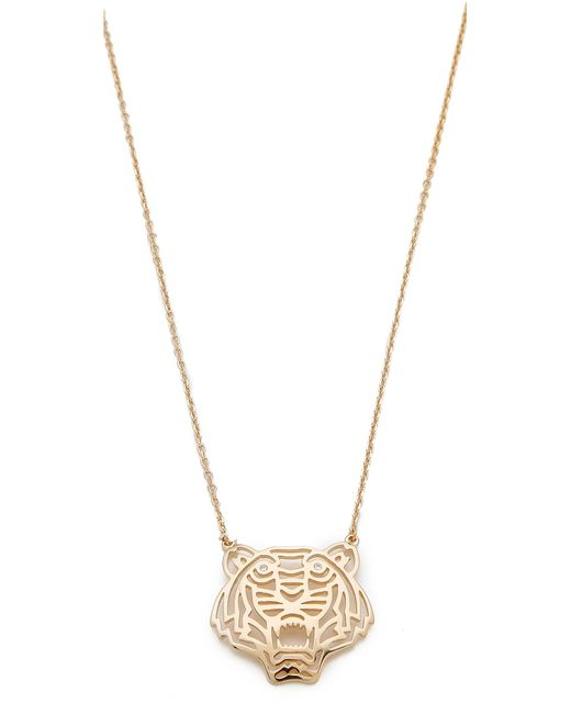 KENZO | Metallic Tiger Necklace | Lyst