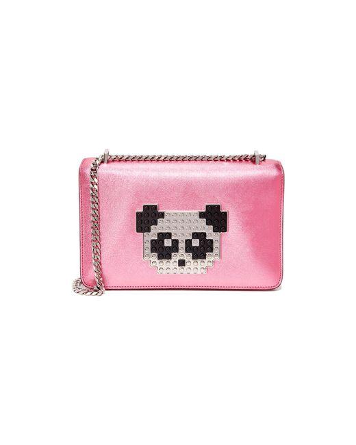 Les Petits Joueurs | Pink Metallic Mini Janis Bag | Lyst