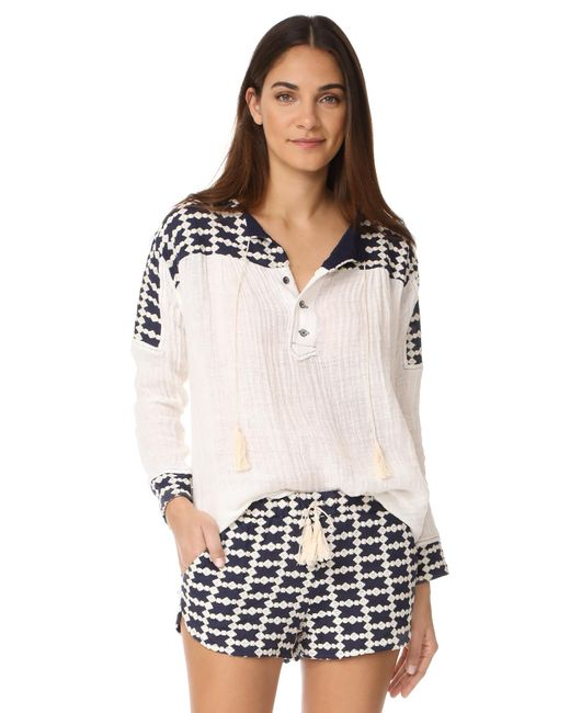 Liv | White Cook Island Peasant Blouse | Lyst