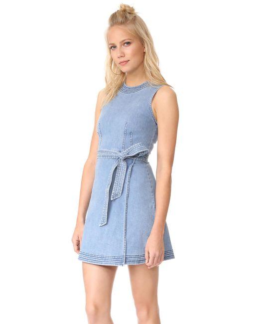 Lover   Blue Evvie Mini Dress   Lyst