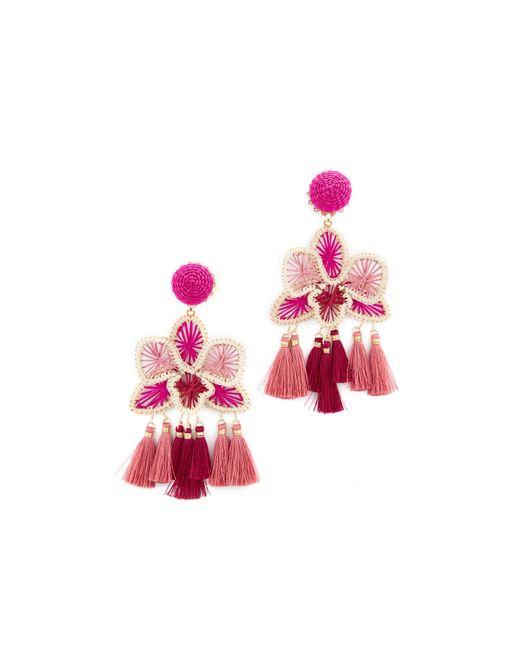 Mercedes Salazar | Pink Orquidea Rosa Clip On Earrings | Lyst