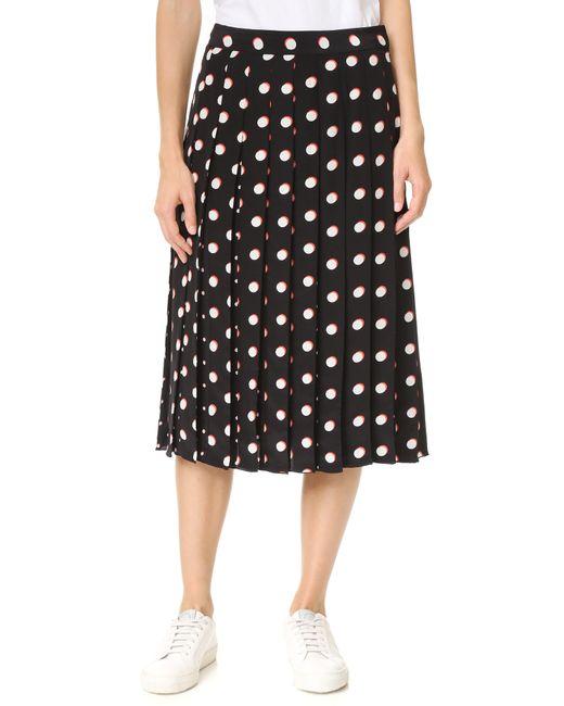 Marc Jacobs | Black Long Box Pleat Skirt | Lyst