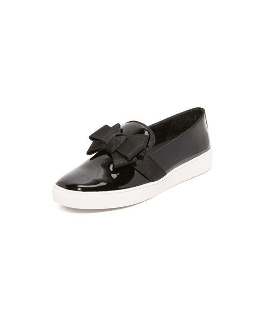 Michael Kors | Black Val Runway Bow Skate Sneaker | Lyst