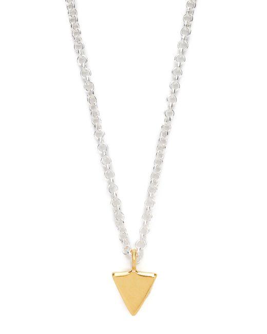 Maya Magal | Metallic Triangle Charm Necklace | Lyst