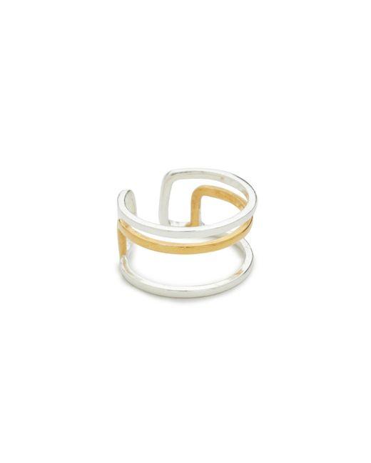 Maya Magal | Metallic Parallel Midi Ring | Lyst