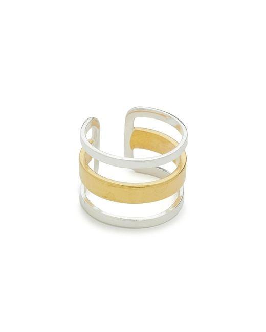 Maya Magal | Metallic Stripe Ring | Lyst