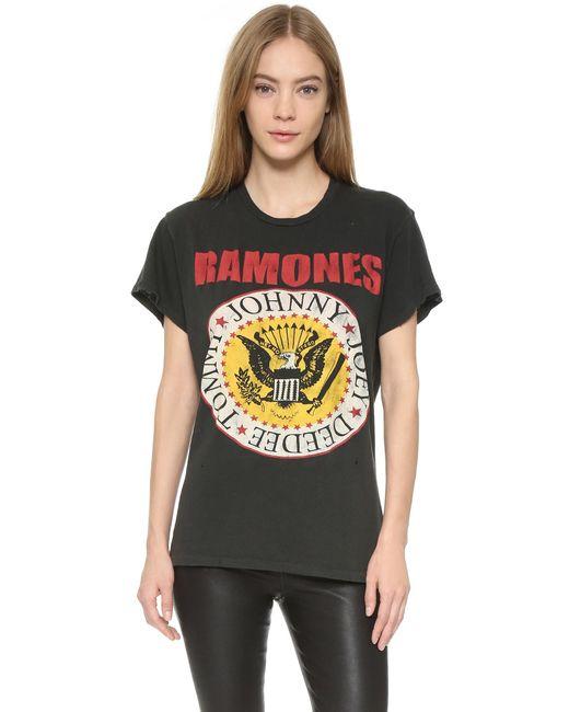 Madeworn Rock | Black Ramones1979 Printed Tee | Lyst