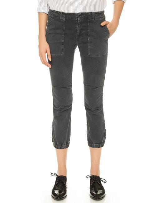Nili Lotan | Black Cropped Military Pants | Lyst