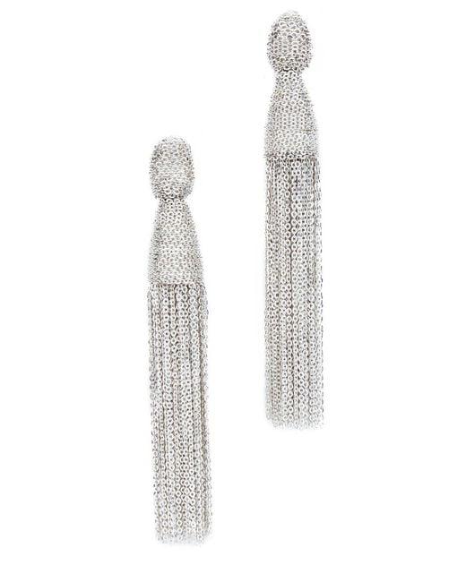 Oscar de la Renta | Metallic Classic Chain Tassel Earrings | Lyst