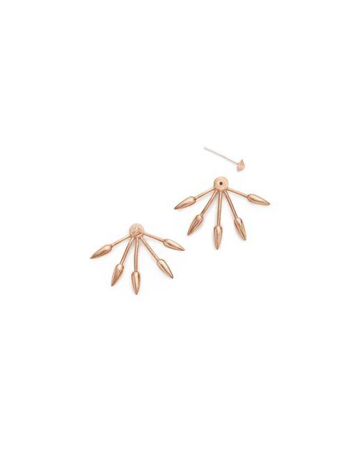 Pamela Love | Pink Five Spike Earrings | Lyst