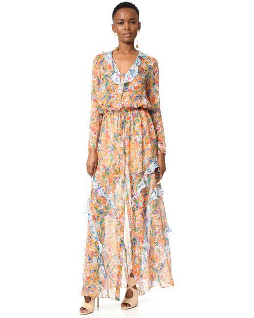 Saloni | Blue 'nikki' Floral Dress | Lyst