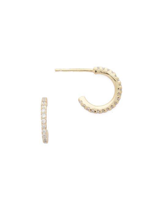 Shashi   Metallic Mini Hoop Earrings   Lyst