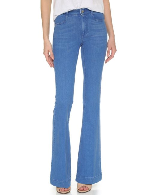 Stella McCartney | Blue '70s Flare Jeans | Lyst