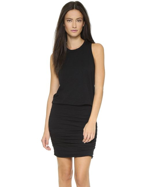 Sundry | Black Ruched Dress | Lyst