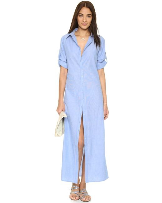 Thayer | Blue Shirtdress Cover Up | Lyst