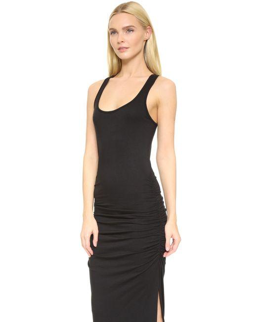 Three dots Racer Back Maxi Dress in Black | Lyst