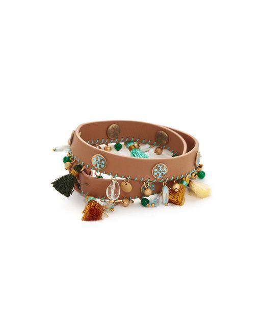Tory Burch   Multicolor Tassel Double Wrap Bracelet   Lyst