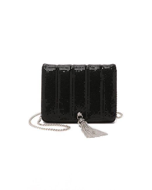 Whiting & Davis   Black Quilted Tassel Bag   Lyst