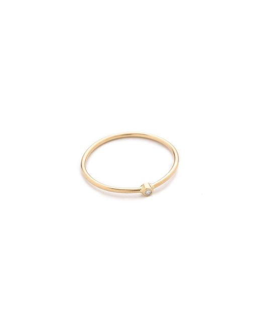 Zoe Chicco | Metallic Diamond Ring | Lyst