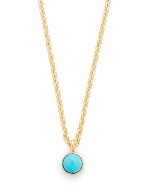 Zoe Chicco | Metallic Turquoise Gemstone Short Necklace | Lyst