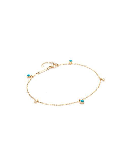 Zoe Chicco | Metallic Turquoise Gemstone Anklet | Lyst