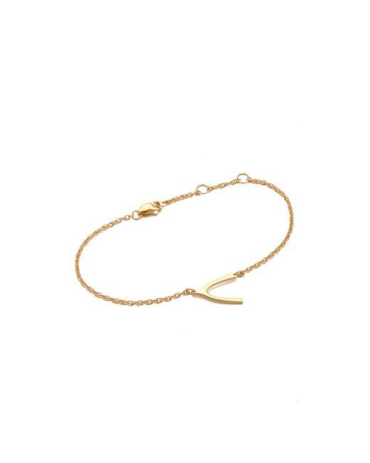 Jennifer Zeuner | Metallic Mini Wishbone Bracelet | Lyst