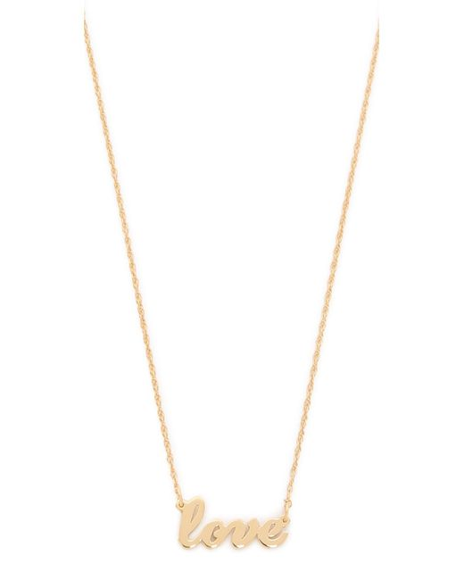 Jennifer Zeuner | Metallic Cursive Love Necklace | Lyst