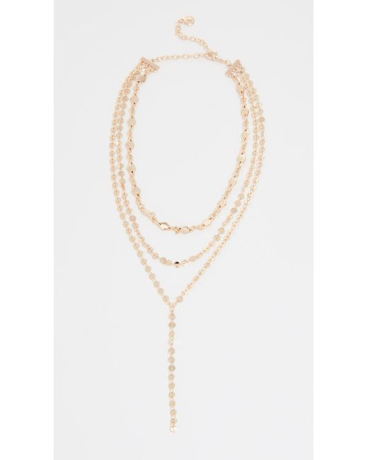 BaubleBar - Metallic Aimee Layered Y Chain Necklace - Lyst