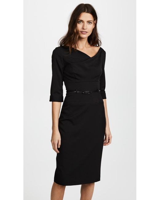 762b35ddd89 Black Halo 3 4 Sleeve Jackie O Dress in Black - Save 10% - Lyst