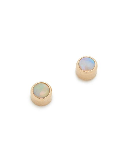 Zoe Chicco - Multicolor Opal Gemstones Stud Earrings - Lyst