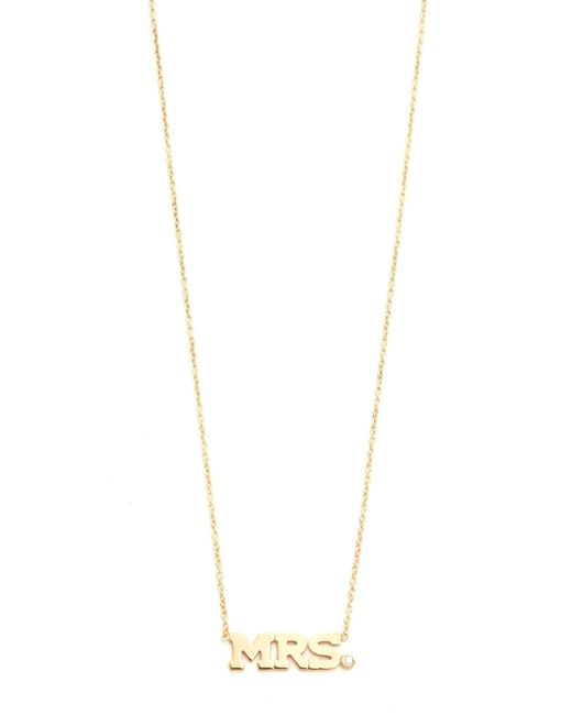 Zoe Chicco | Metallic Mrs. Necklace | Lyst