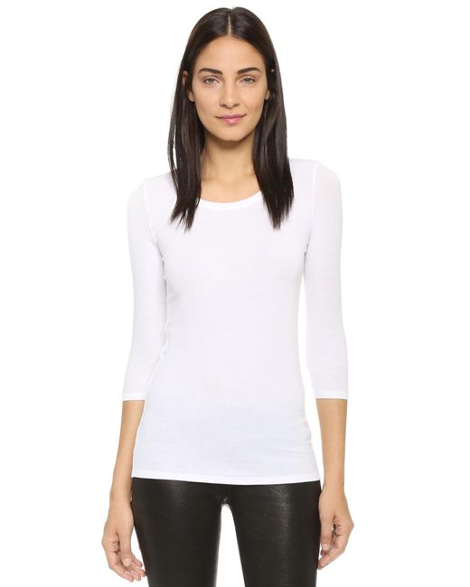 ATM - White Jackie Top - Lyst