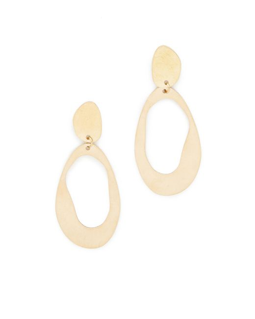 Modern Weaving | Metallic Large Oval Loop Earrings | Lyst