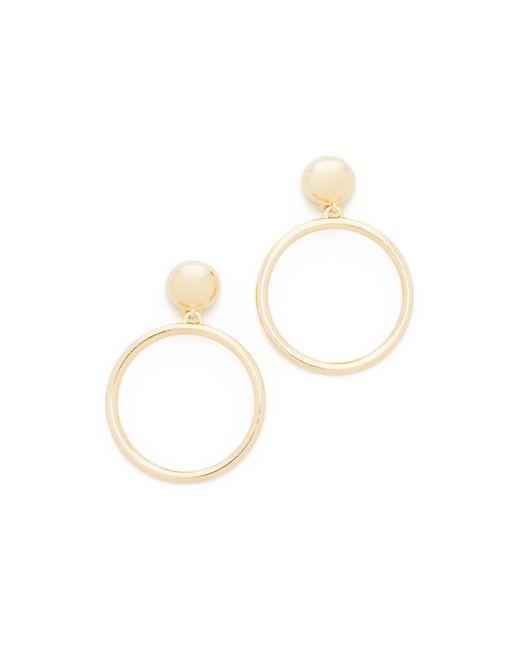 Ben-Amun   Metallic Large Circle Clip On Earrings   Lyst