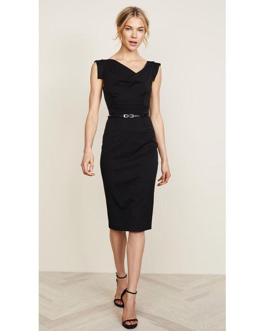 13dec8e1229 Black Halo Jackie O Belted Dress in Black - Save 6.551724137931032 ...