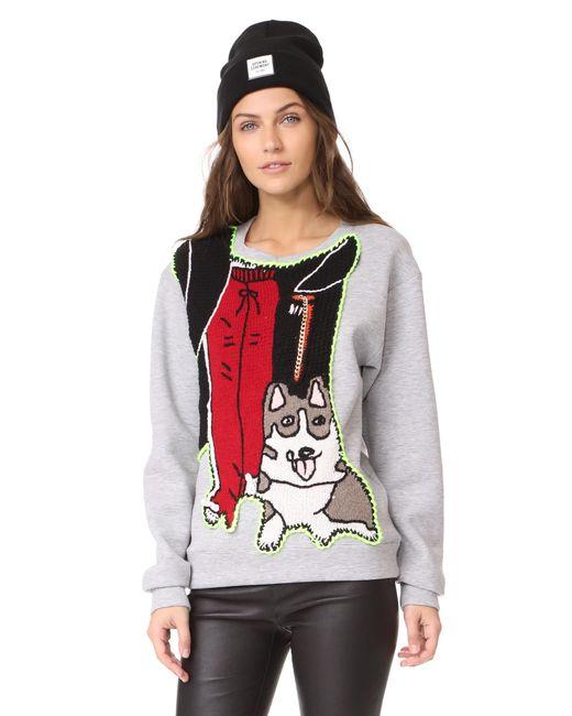 Michaela Buerger   Gray Dog Walking Sweashirt   Lyst