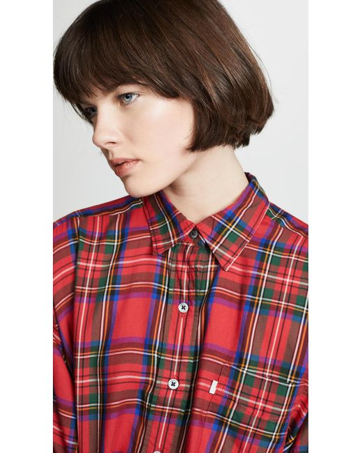 9ceb665d312 Lyst - Levi s Selah Button Down Shirt in Red