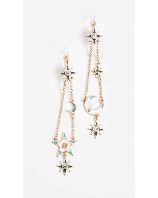 Shashi - Metallic Rigel Earrings - Lyst