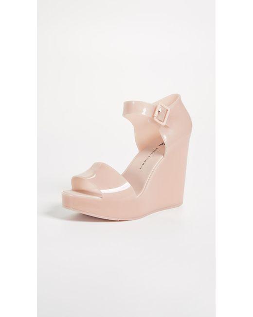 Melissa - Pink Mar Wedge Sandals - Lyst