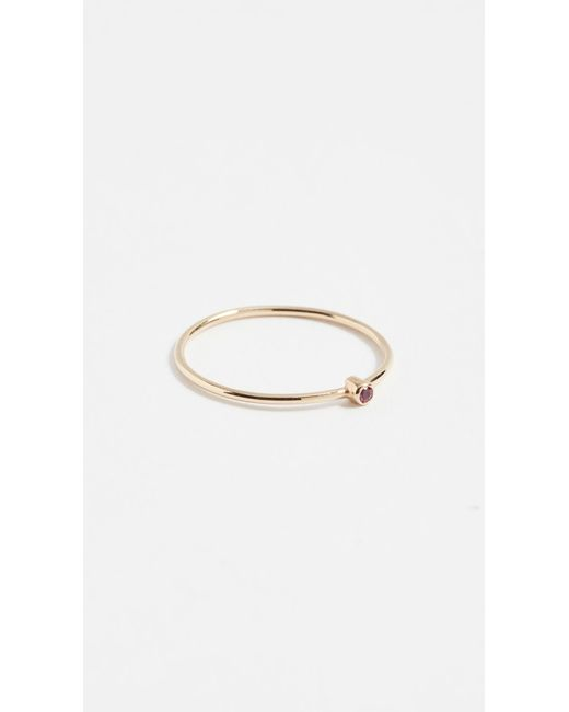 Jennifer Meyer - Metallic 18k Gold Thin Diamond Ring - Lyst