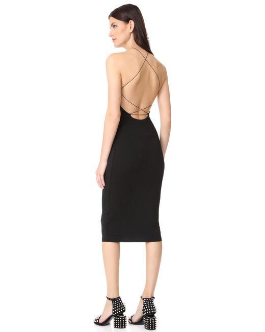 T By Alexander Wang | Black Stretch Jersey Razor Front Dress | Lyst