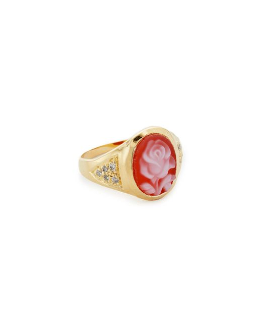 Jacquie Aiche   Metallic Ja Small Rose Ring   Lyst