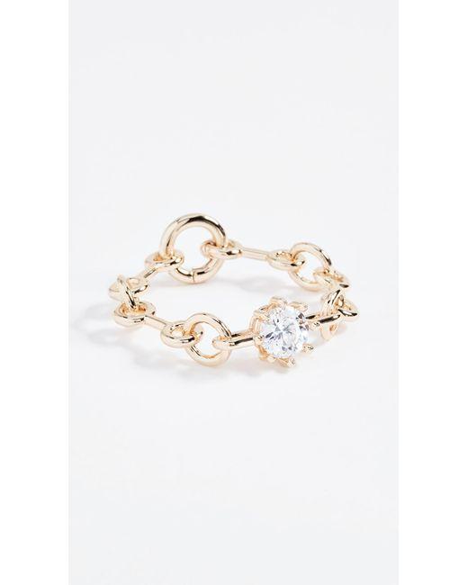 Eddie Borgo | Metallic Chain Link Estate Bracelet | Lyst