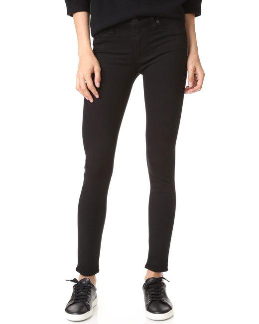 Hudson | Black Nico Midrise Super Skinny Jeans | Lyst