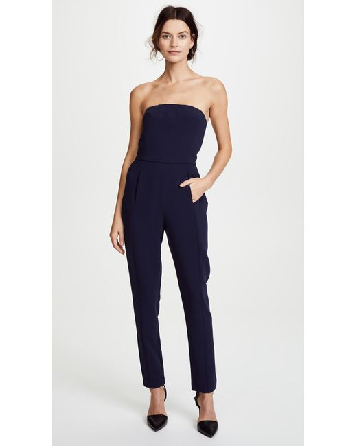 Black Halo - Blue Iris Strapless Jumpsuit - Lyst