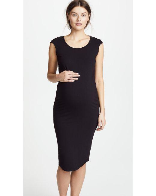 517548da60975 Monrow Cap Sleeve Dress in Black - Save 30% - Lyst