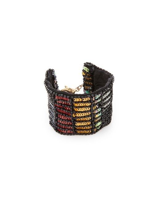 Lulu Frost | Black Josephine Sequin & Silk Bracelet | Lyst