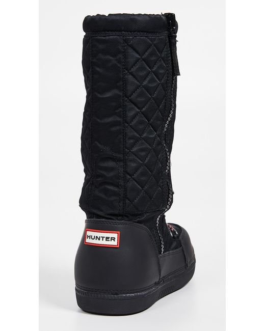 12378c7310b0 ... Hunter - Black Original Snow Quilted Boots - Lyst ...