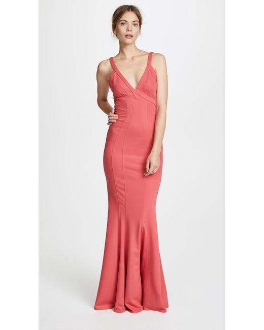 Lyst - Zac Posen Zac Gemma Gown in Pink