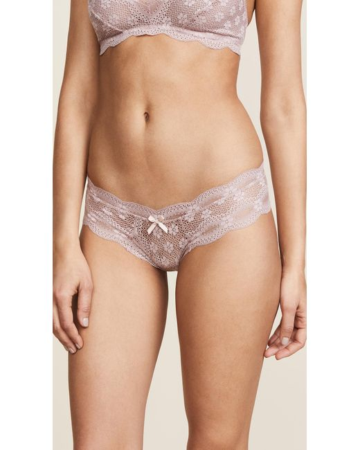 Eberjey - Pink India Lace Low Rise Boy Thong - Lyst